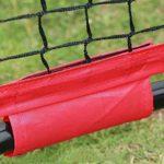 Jklt Filet D'entraînement de Baseball Swing Golf Pieds Net 7×7 Baseball Net Softball perforé Pratique Net Bloc Net Clôture Conception Facile à Utiliser et Stable (Couleur : Rouge, Size : 213x213cm)