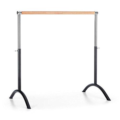 Klarfit Bar Lerina Barre danse classique mobile hauteur réglable (110x113cm, réglage en hauteur continu de 70 à 113 cm, diamètre de barre de 38 mm) – noir