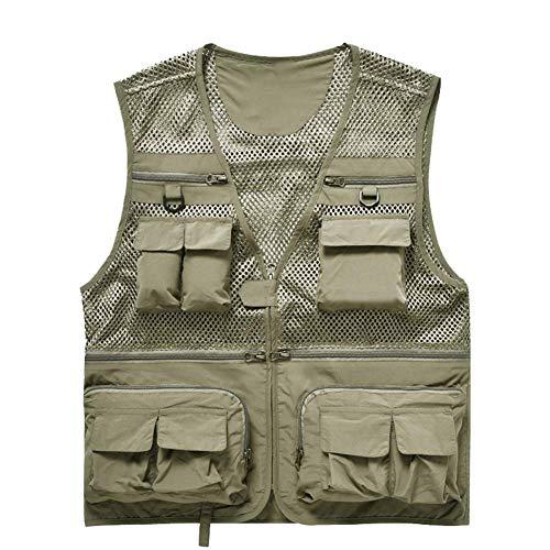 Le gilet extérieur de photographie de Multi-poche, gilet de veste de gilet d'été de m-S
