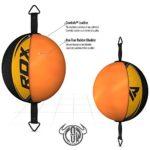 RDX Cuir De Vachette Double End Bag Corde Attache Poire de Vitesse Boxe Frappe Entrainement MMA Speed Muay Thai – Jaune