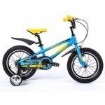WJSW Garçon Fille Vélos Vélos 16 Pouces Bleu Vert Guidon Hauteur Réglable (Couleur: Bleu)