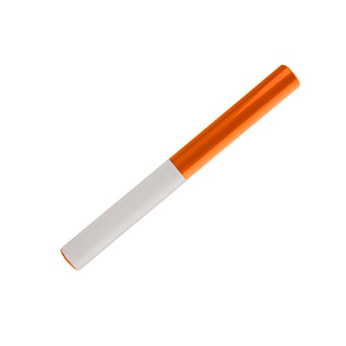 Témoin Relais Bâton de Course en Plastique ABS pour Sports d'Athlétisme Jeux Compétition de Course Ecole – Orange + Blanc, 300 x 32 x 30 mm