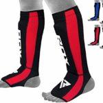 RDX Néoprène MMA Muay Thai Lutte Sport Protège-Tibia Protège-Tibias pour Le Kickboxing Cou-de-Pied (CE systeme heinigt Approuvé par satra)