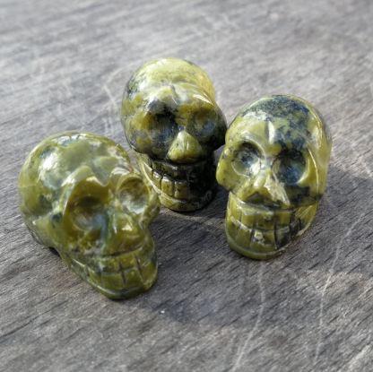 Mini crâne Unakite