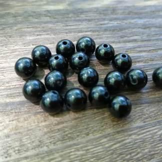 perles tourmaline noire 6mm
