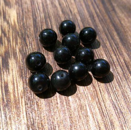 perles obsidienne noire 6mm