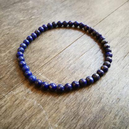 Bracelet Lapis Lazuli 4mm