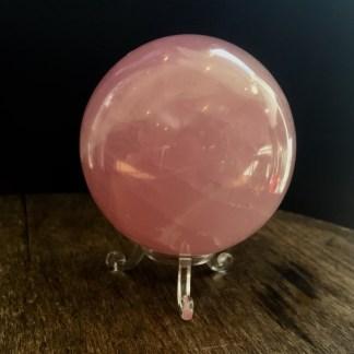 quartz rose sphere