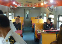 Restaurant Car, Bangkok to Malaysia by Train, Butterworth Station Penang