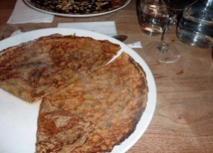Grand Marnier Crepe and Red Wine, Eating in Paris, Christmas