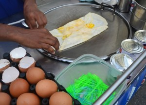 Banana Roti, International street food in Bangkok Thailand
