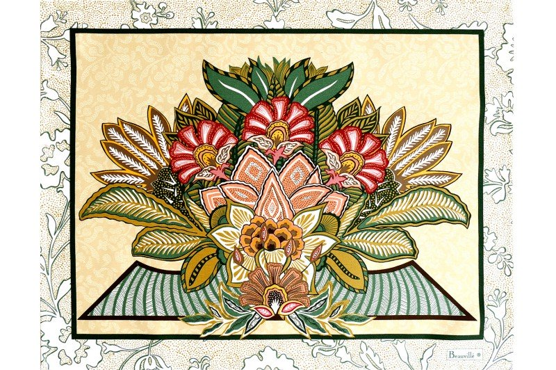 versailles yellow placemat
