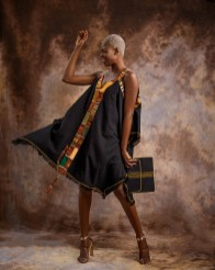 Summer-Dress-with-Kente-Hint---Black-by-Mable-Agbodan-1