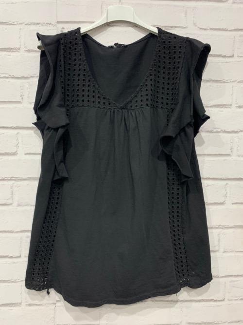 חולצה כותנה הילה שחורה