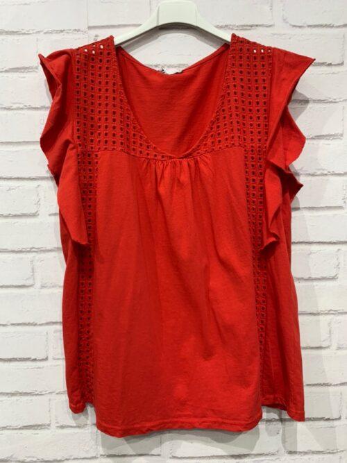 חולצה כותנה הילה אדומה