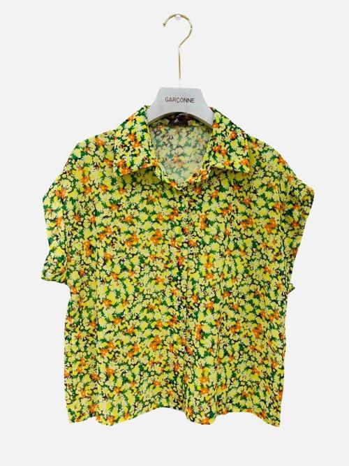 חולצה שרוול קצר צהובה