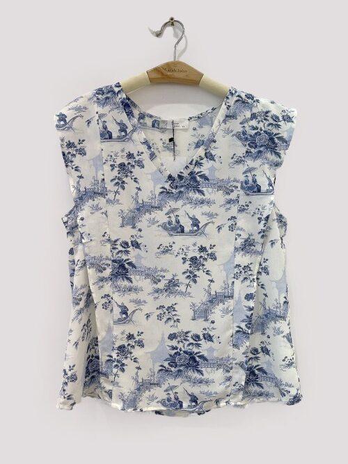 חולצה שרוול קצר כחולה