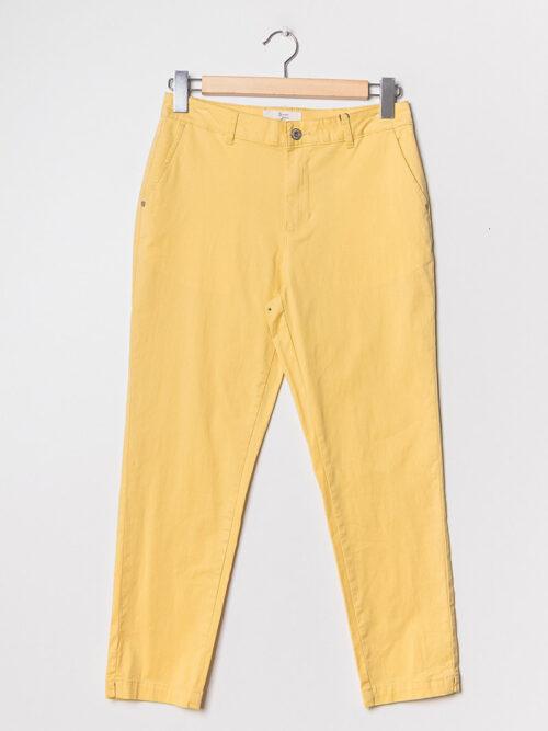 מכנסיים חלקים מלניה צהוב