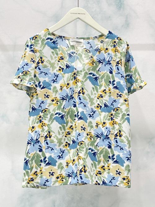 חולצה שרוול קצר דינה כחולה