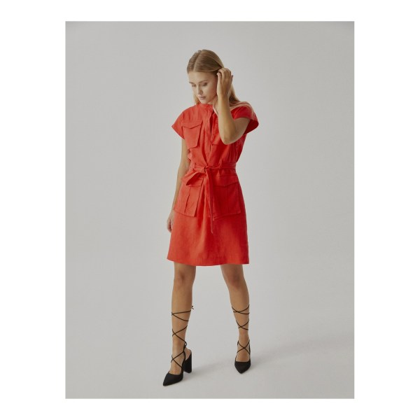 Robe Sinequanone en lin, poches sahariennes