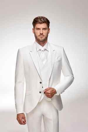 costume total look complet - ivoire gilet imprimé cachemire, tendance 2022