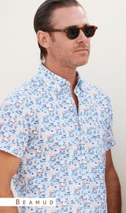 chemise Dario Beltran manches courtes, coupe droite