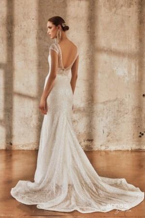 robe de mariée sirene pailleté. Tulle brodé à sequin. Modèle elia, style princesse, chic