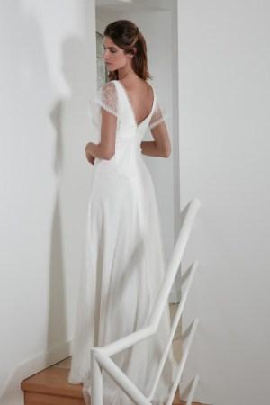 robe de mariée modèle rayonnante collection bochet proposée par la boutique bouvier millot Langres Haute marne, style bohème chic