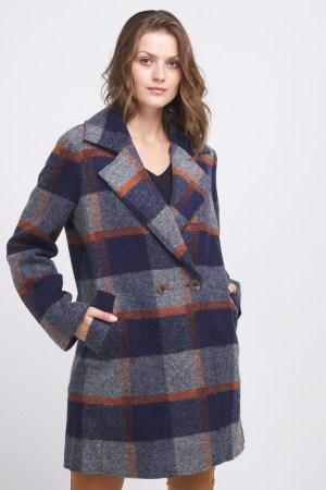 manteau lainage à carreaux C'est beau la vie collection automne hiver