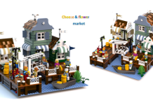LEGO Ideas Cheese and Flower Market