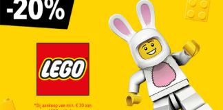 20% korting op al het LEGO
