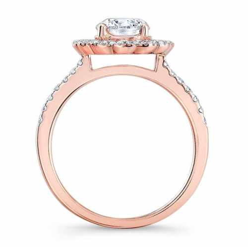 nk29672 18r profile 12 - 18K ROSE GOLD DOUBLE HALO DIAMOND ENGAGEMENT RING