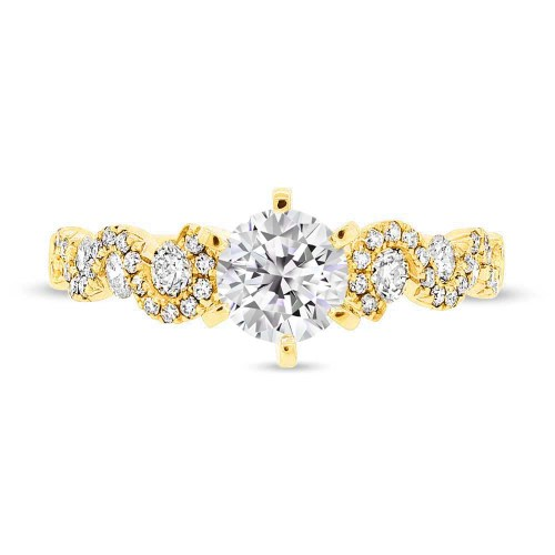 SC28023025b mounted - 0.54CT 14K YELLOW GOLD DIAMOND SEMI-MOUNT RING