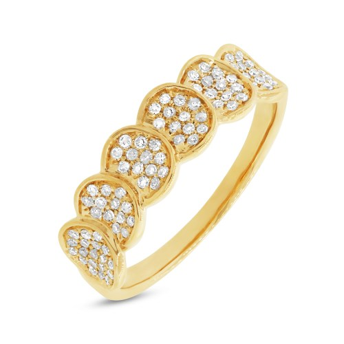 z sc220037603 - 0.28CT 14K YELLOW GOLD DIAMOND PAVE LADY'S RING SC22003760