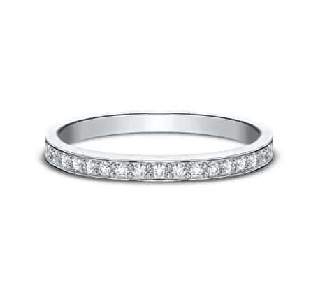 522800HFW P3 1 - ELEGANT WHITE  GOLD 2MM DIAMOND BAND 522800W