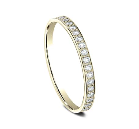 522800Y P2 1 1 - YELLOW GOLD 2MM  PAVE SET DIAMOND BAND 522800Y