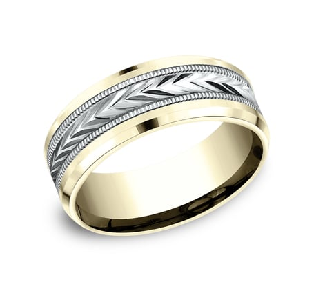 CF188003 P1 - 8MM MULTI GOLD  DESIGN BAND CF188003