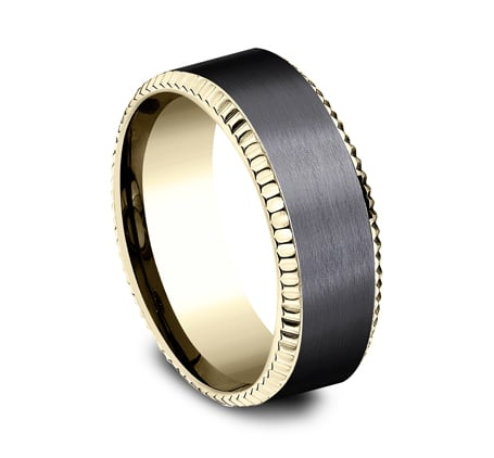 CF448527BKTY P2 - YELLOW GOLD 8MM  DESIGN BAND CF448527BKTY