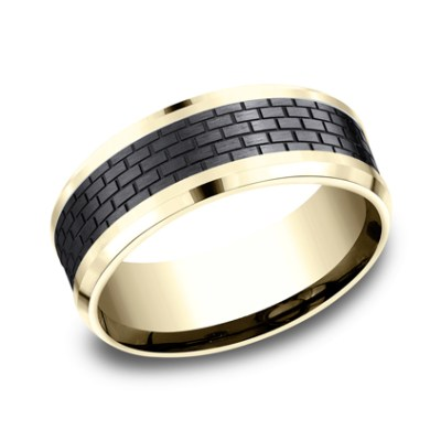 CF948331BKTY P1 - TOW PART YELLOW GOLD DESIGN BAND CF948331BKTY