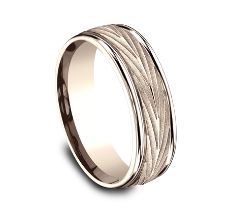RECF77337R P2 - 7MM ROSE GOLD  BAND RECF77337R