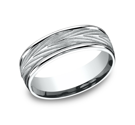 RECF77337W P1 - 7MM WHITE GOLD  BAND RECF77337Y