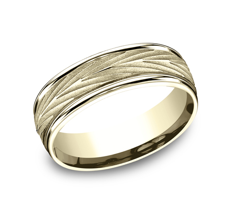 RECF77337Y P1 - 7MM YELLOW GOLD  BAND RECF77337Y