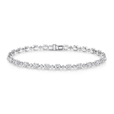 18K WHITE GOLD DIAMOND TENNIS BRACELET FM29031 18W - 18K WHITE GOLD DIAMOND TENNIS BRACELET FM29031-18W