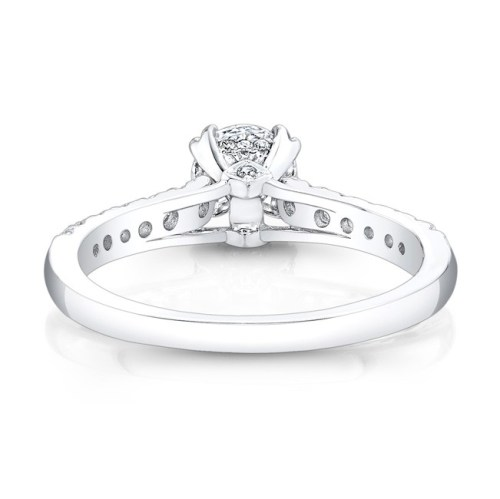 18K WHITE GOLD ELONGATED DIAMOND ACCENTED SHANK ENGAGEMENT RING FM27642 18W 2 - 18K WHITE GOLD ELONGATED DIAMOND ACCENTED SHANK ENGAGEMENT RING FM27642-18W