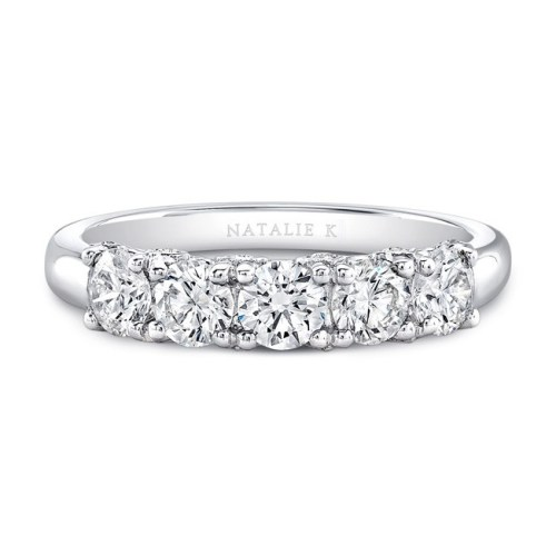 18K WHITE GOLD FIVE DIAMOND FASHION BAND FM29032 18W - 18K WHITE GOLD FIVE DIAMOND FASHION BAND FM29032-18W