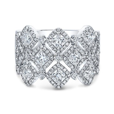 18K WHITE GOLD FOREVERMARK® DIAMOND BAND FM33101 18W - 18K WHITE GOLD FOREVERMARK® DIAMOND BAND FM33101-18W