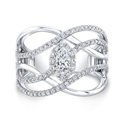 18K WHITE GOLD FOREVERMARK® DIAMOND BAND FM33254 18W - 18K WHITE GOLD FOREVERMARK® DIAMOND BAND FM33254-18W