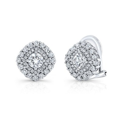 18K WHITE GOLD FOREVERMARK® DIAMOND EARRINGS FM31775 18W - 18K WHITE GOLD FOREVERMARK® DIAMOND EARRINGS FM31775-18W