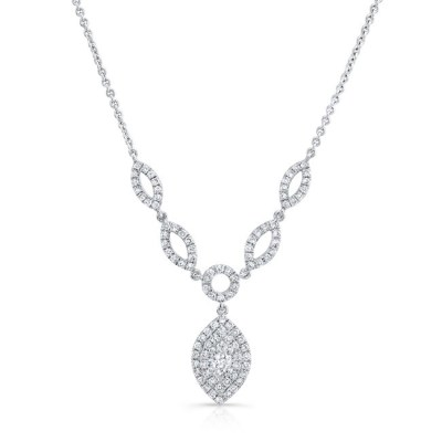 18K WHITE GOLD FOREVERMARK® DIAMOND NECKLACE FM33081 18W - 18K WHITE GOLD FOREVERMARK® DIAMOND NECKLACE FM33081-18W