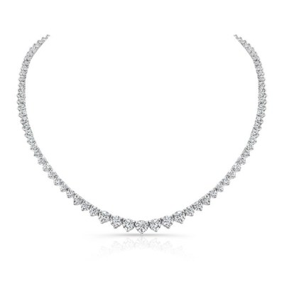 18K WHITE GOLD FOREVERMARK® DIAMOND RIVIERA TENNIS NECKLACE FM31217 18W - 18K WHITE GOLD FOREVERMARK® DIAMOND RIVIERA TENNIS NECKLACE FM31217-18W